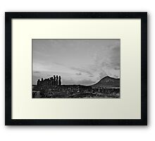 once upon a time in Easter Island Framed Print
