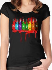 Perks all lined up and bloody Women's Fitted Scoop T-Shirt