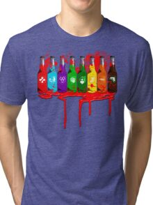 Perks all lined up and bloody Tri-blend T-Shirt