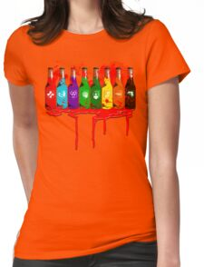 Perks all lined up and bloody Womens Fitted T-Shirt
