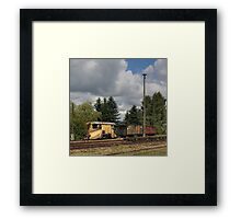 Cranzahl Station - The Snowplow Framed Print