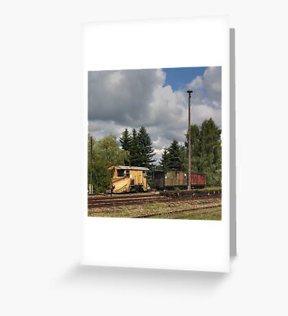 Cranzahl Station - The Snowplow Greeting Card