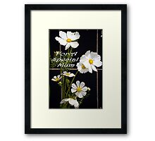 For A Special Mum Framed Print