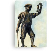 106 - WOODHORN COLLIERY MEMORIAL - DAVE EDWARDS -WATERCOLOUR - JUNE 2003 Canvas Print