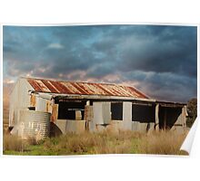 RUSTING WOOLSHED Poster