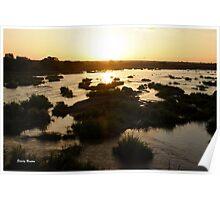 """""""Olifants river - sunset"""" - Kruger National Park Poster"""