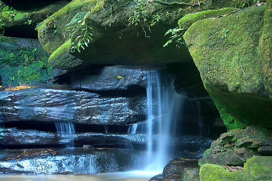 Who says blue and green should never be seen_Somersby Falls by Sharon Kavanagh