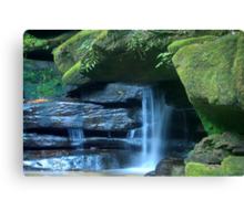 Who says blue and green should never be seen_Somersby Falls Canvas Print
