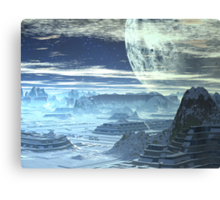 Underground Cities  - Ice Planet Omega Canvas Print
