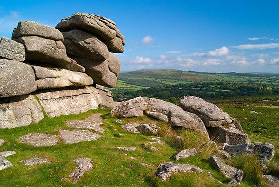 Pew Tor, Dartmoor, England by Giles Clare