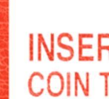 Arcade Coin-Op T-shirt Sticker