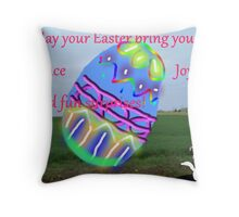 How Am I Suppose to Put That in A Basket (an Easter wish for my friends) Throw Pillow