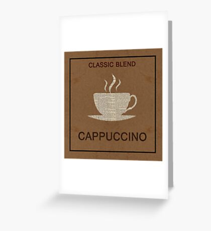 Old coffee poster Greeting Card