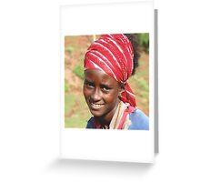 Ethiopia: Young Woman near Lalibela Greeting Card
