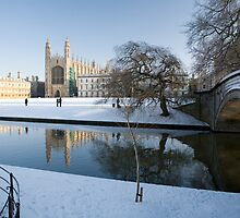 Kings College in Winter by Robert Ellis