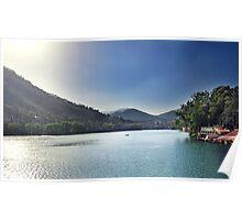 Lake Bhimtal. Poster