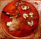 """Collagraph 2 in Orange by Belinda """"BillyLee"""" NYE (Printmaker)"""
