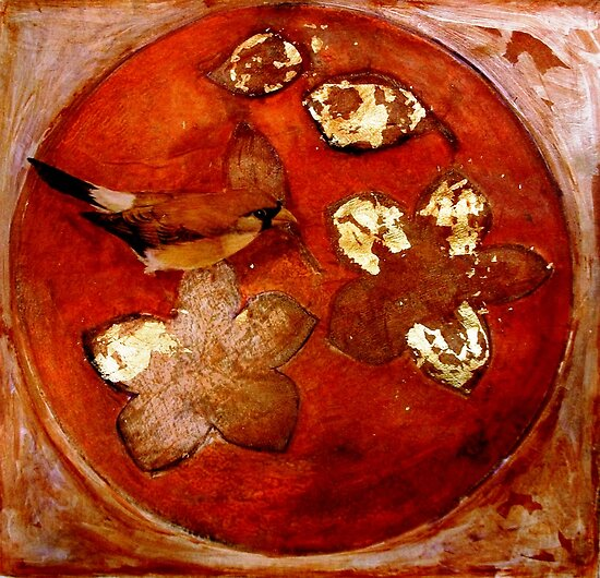 "Collagraph 2 in Orange by Belinda ""BillyLee"" NYE (Printmaker)"
