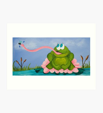 The Frog and the Fly Art Print