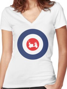 Mod Vespa Mod Culture Women's Fitted V-Neck T-Shirt