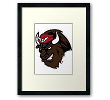 Shadaloo Bison logo Framed Print