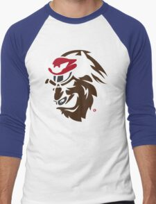 Shadaloo Bison logo Men's Baseball ¾ T-Shirt