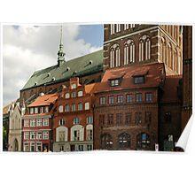 MVP14 Old Market Square, Stralsund, Germany. Poster