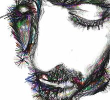 portrait of bearded man with eyes closed  by zoeepunctro
