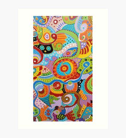 Quantum Strands (high resolution) Art Print