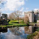 Whittington Castle in Reflection by Sheila Laurens