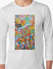 Quantum Strands (high resolution) Long Sleeve T-Shirt