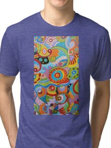 Quantum Strands (high resolution) Tri-blend T-Shirt
