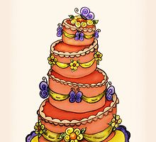 Happy Birthday - Whimsical Butterfly Cake by Jennifer Gibson