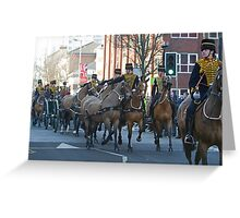 The King's troop Royal Horse Artillery Greeting Card
