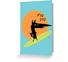 Surfs Up Pup Greeting Card