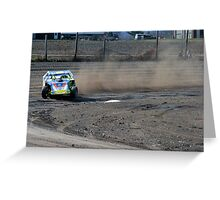 IMCA Modified movin off turn 2 Greeting Card