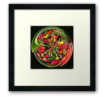 A bunch of tulip flowers in spherical Framed Print