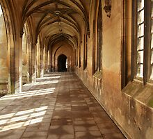 St John College, Cambridge Gothic corridor by Robert Ellis