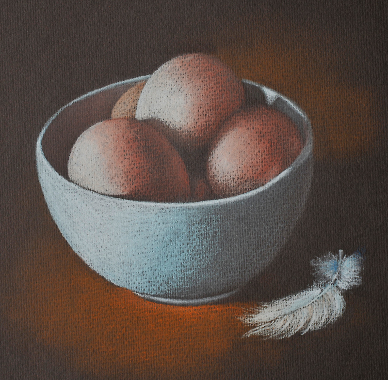 Eggs in a bowl by Alan Stevens