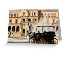 Plaza de Espana, Seville, Spain  Greeting Card