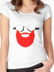 Beard Goggles Women's Fitted Scoop T-Shirt