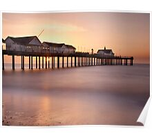 Sunrise at Southwold, Suffolk Poster