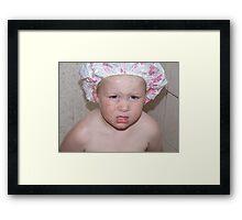 Grandmamas Shower Cap Framed Print