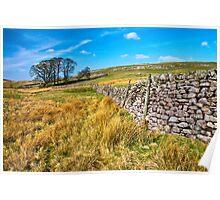 Grassington moorland Poster