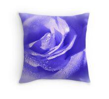 La Rose Bleu Throw Pillow