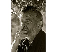 7 ★★★★★ .Faces of Greece . Bali . Vineyard farmer . Portrait.  from  Kriti . Greece .. by Brown Sugar . Views (560). F* Photographic Print
