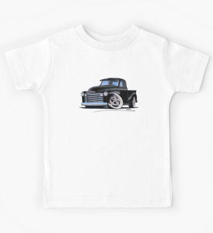Chevy 3100 Pick-Up (A) Black Kids Tee