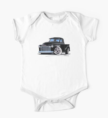 Chevy 3100 Pick-Up (A) Black One Piece - Short Sleeve