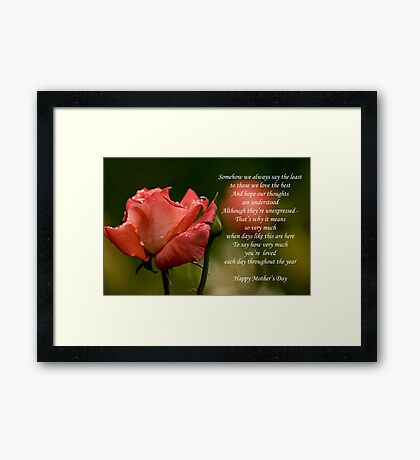 Mother's Day Card 5 Framed Print
