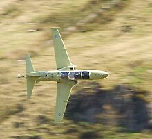 Hawk T2 in primer flying low past CAD West by Peter Talbot